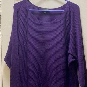 Lane Bryant purple sweater